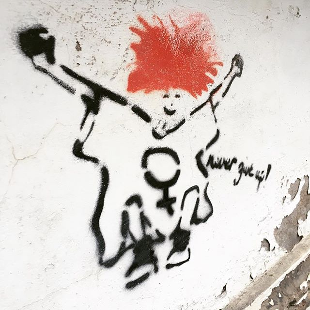 Never give up! #streetart #ehrenfeld