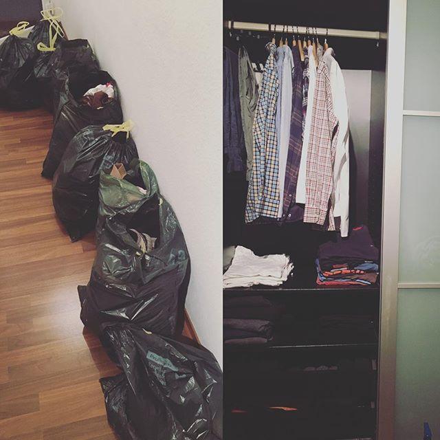 Kleiderschrank aufgeräumt und unendlich viel Kleidung entsorgt. Wer geht mit shoppen?