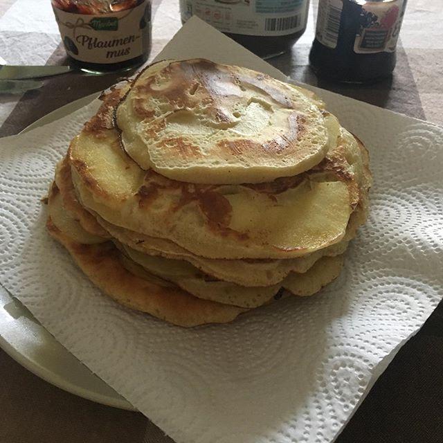 Ein Sonntag mit Apfel-Pfannekuchen ist ein guter Sonntag! #pancakes